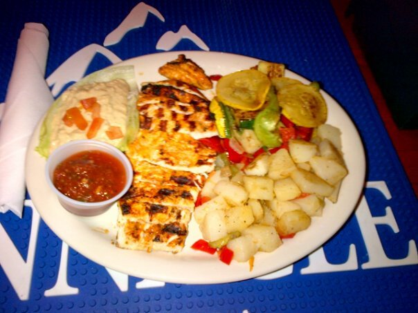 Fresh Grilled Chicken, Hummus, Potatoes, Veggies, side of Salsa - G.T.L at Firehouse