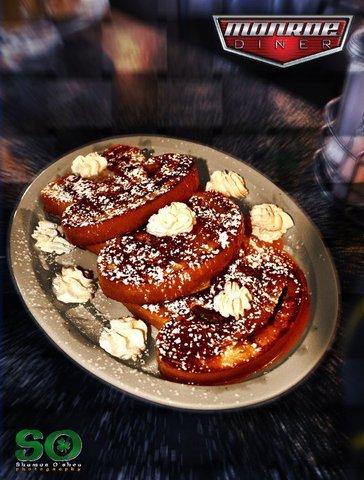 Cinnamon Swirl french toast at Monroe Diner Inc