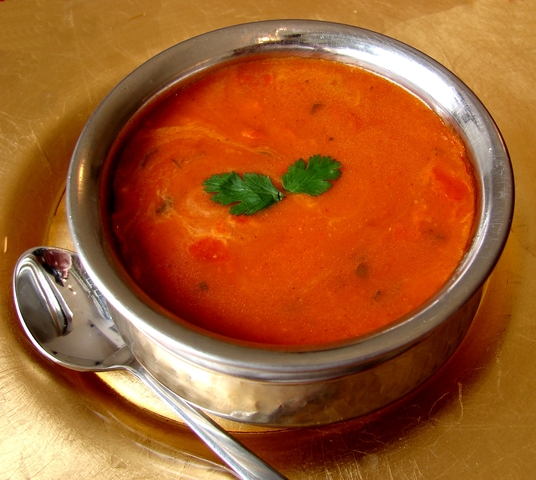 tastes as good as it looks - tomato soup at Namaskaar