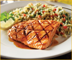 Grilled Salmon at Romano's Macaroni Grill