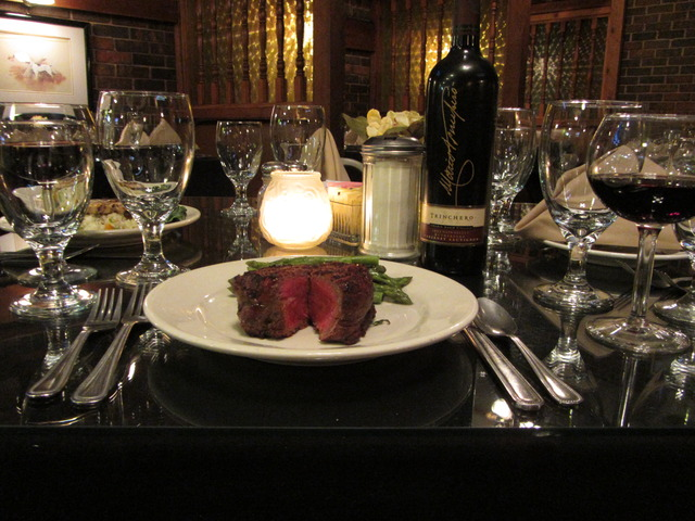 10oz Filet Mignon (Blue) at Anthony's Steak House