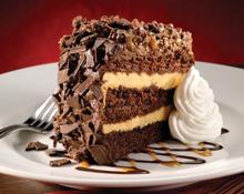 TOFFEE RIDGE CHOCOLATE CAKE at Bugaboo Creek Steak House