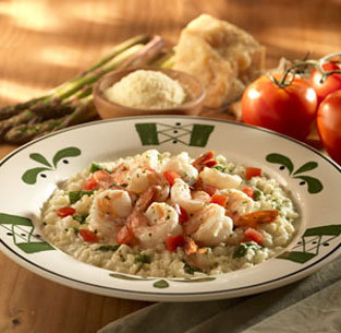 Shrimp & Asparagus Risotto at Olive Garden