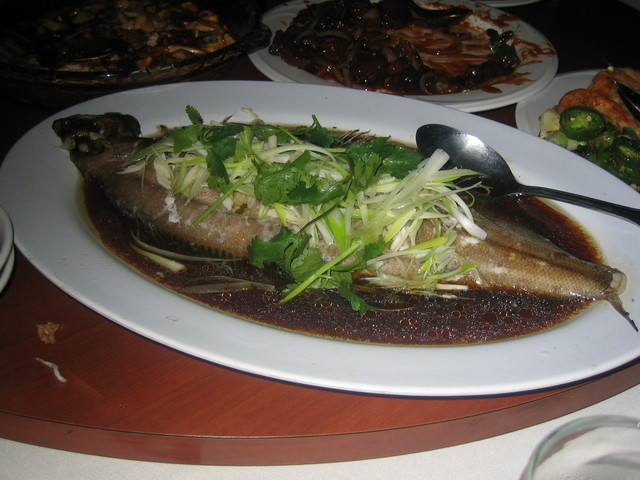 Steamed Fish at Russell's Seafood Palace (CLOSED)