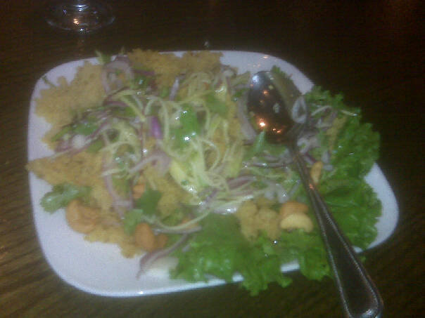 Papaya Salad w/ Crispy Catfish at Sripraphai Thai Restaurant