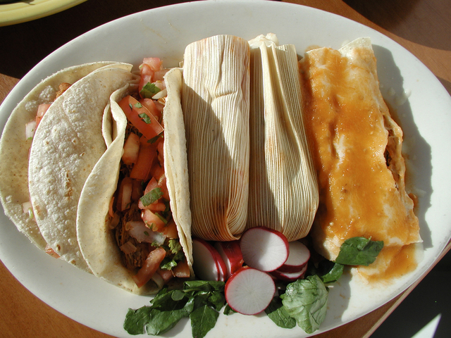 I took this photo, and others, for this restaurant's web site. - Mexican Combo at Taqueria La Mexicana