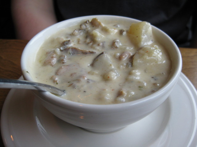Duck Wild Rice Chowder at Bluefin Grille