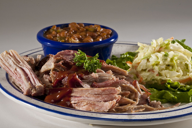 Pulled Pork at Red Hot & Blue Restaurant