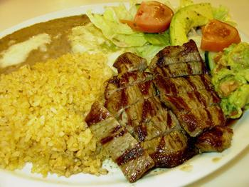 Carne asada at Crystal Fountain Cafe