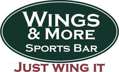 Logo at Wings & More Sports Bar