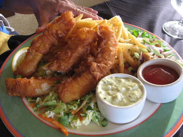 Fish and Chips at Harborside Restaurant & Grand