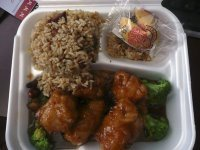 General Tso's Chicken Lunch Special at Lucky Inn