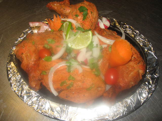 Nice Tandori Chicken Serve In a Hot Shisler. - Tandori Chicken at Chilli's Garden Indian Restaurant & Bar