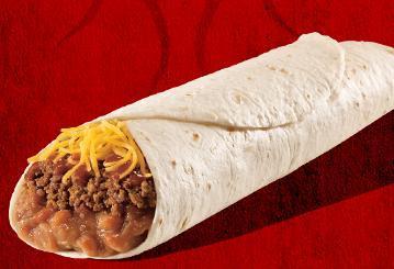 Del Combo Burrito at Taco Bell