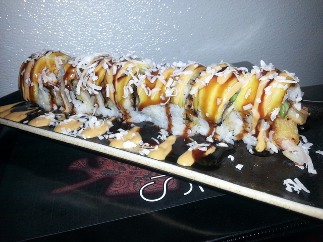 Island Roll at Sushi Kawa Sports Bar and Grill
