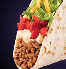 NEW BIG TASTE TACO at Del Taco