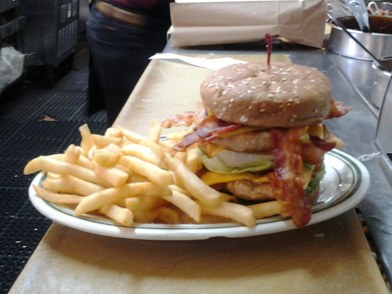 Triple Bacon Turkey Burger.....yummy - Restaurant Menu at columbia restaurant