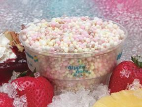 Banana Split at Dippin' Dots