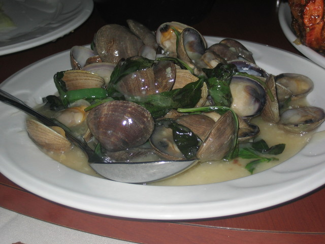 Clams with Spicy Basil Sauce at Russell's Seafood Palace (CLOSED)