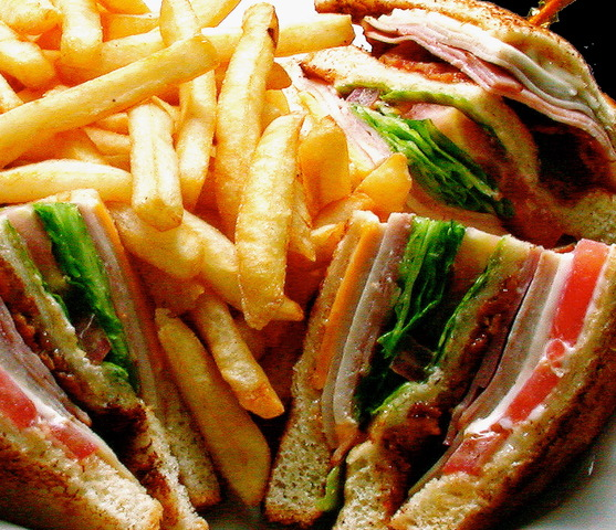 Club Sandwich Basket at Burger Basket