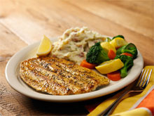 Grilled Rainbow Trout at Bugaboo Creek Steak House