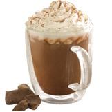 Hazelnut Signature Hot Chocolate at Tully's Coffee