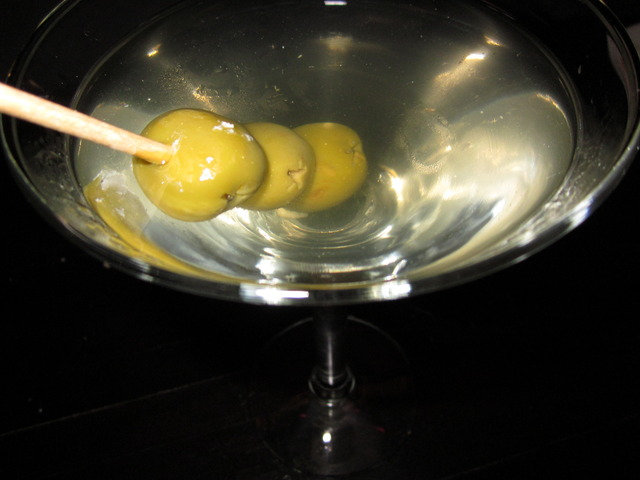 Dirty Gin Martini at Devon Seafood + Steak