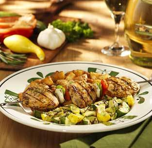Grilled Chicken Spiedini at Olive Garden