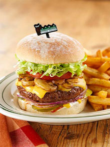 Moosebreath Burger at Bugaboo Creek Steak House