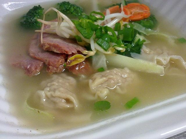 Wonton Soup - Wonton soup at Hot Chai Cafe