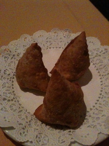 Lentil Samosa at Nawab of India