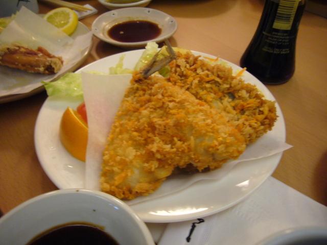 Fried Aji at Kiku Sushi