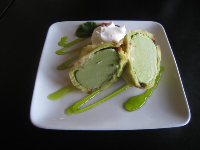Tempura green tea ice cream! - Tempura Green Tea Ice Cream at I Love Sushi (Lake Bellevue)