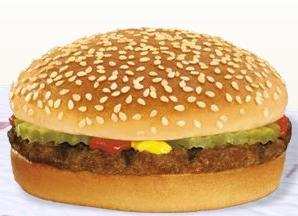 Hamburger at Burger King