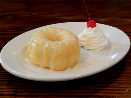 Lemon Bundt Cake at Sticky Fingers Smokehouse