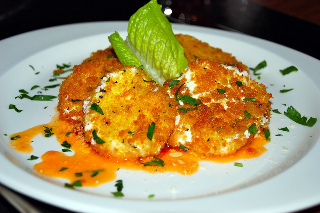 Fried Mozzarella at The ROI Food & Music