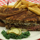 The Patty Melt Sandwich is basically a Hamburger on rye bread with over 1/3 pound of beef with grill - Patty Melt at Mean Woman Grill
