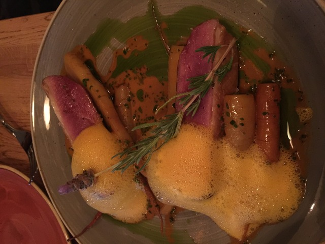 DUCK BREAST carrots / honey / lavender at Kali