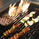 Food on the grill - Photo at Clarke's at Faneuil Hall