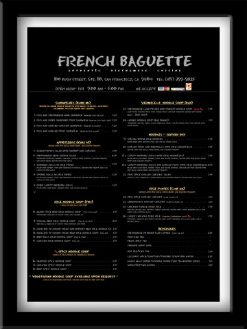 Logo at French Baguette