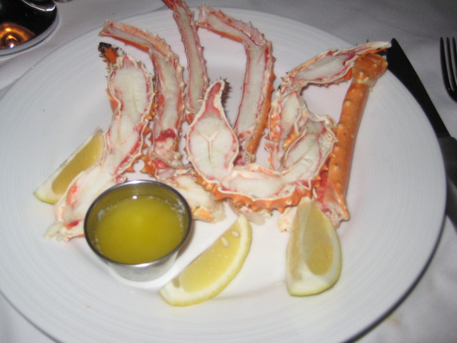 The sweet, soft and melt in your mouth Alaskan King Crab Legs - Alaskan King Crab Legs at Larsen's Steakhouse