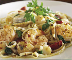 Seafood Linguine at Romano's Macaroni Grill