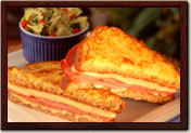 Croque Monsieur at La Madeleine French Bakery