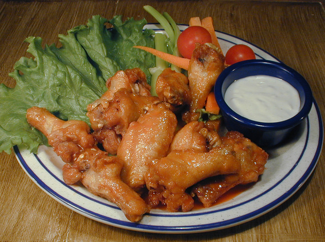 Wings at Red Hot & Blue Restaurant