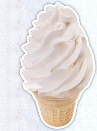 Vanilla Cone or Dish at Sonic