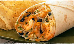 Diablo Shrimp Burrito at Baja Fresh Mexican Grill