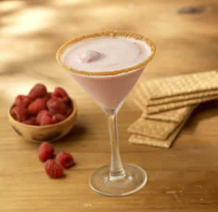 Raspberry Sorbeto Martini at Olive Garden