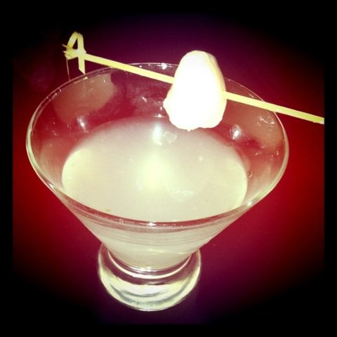 Lychee Martini at Eight Heaven Restaurant and Lounge