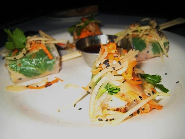 crispy chicken spring rolls at Steelhead Diner