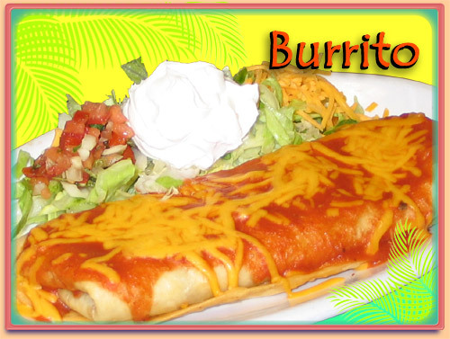 Beef, bean or chicken slow cooked with Caribe seasinings - BURRITOS at Ramirez Restaurant